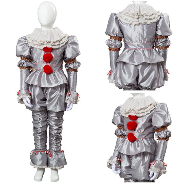 2019 IT 2 Pennywise The Clown Outfit Suit Halloween Cosplay Costume for Kids Child