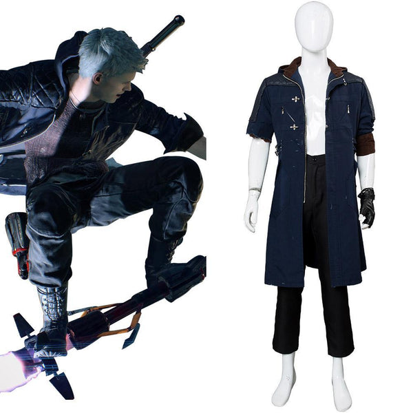 Devil May Cry V Nero Outfit Cosplay Costume Damaged Version