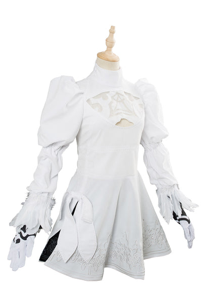Soul Calibur 6 2B Outfit Cosplay Costume White Version