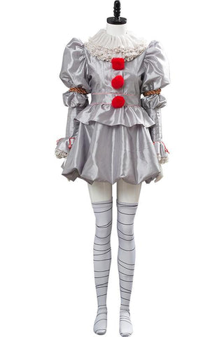 IT Pennywise the Clown Cosplay Costume For Women