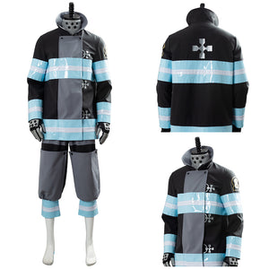 Enen no Shouboutai Fire Force Shinra Kusakabe Firefighter Uniform Cosplay Costume