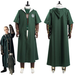 Harry Potter Slytherin Green Quidditch Magic Shool Uniform Outfits Halloween Carnival Suit Cosplay Costume