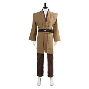 Star Wars Kenobi Jedi TUNIC Cosplay Costume Brown Version No Cloak