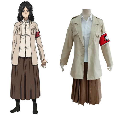 Attack on Titan Shingeki no Kyojin S4 Pieck Finger Uniform Skirt Outfits Halloween Carnival Suit Cosplay Costume