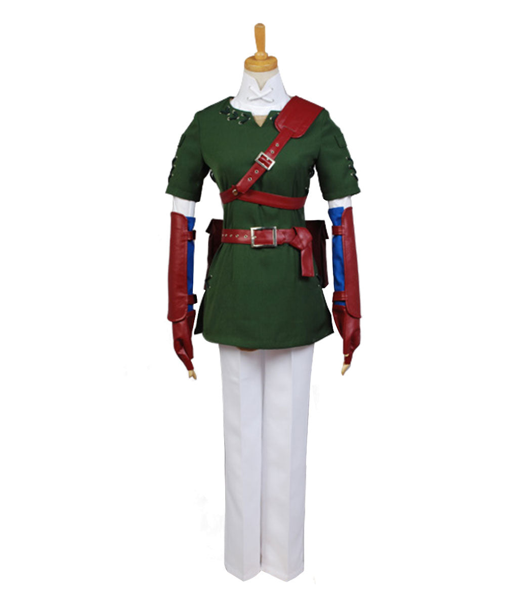 The Legend of Zelda Zelda Link Cosplay Costume NEW