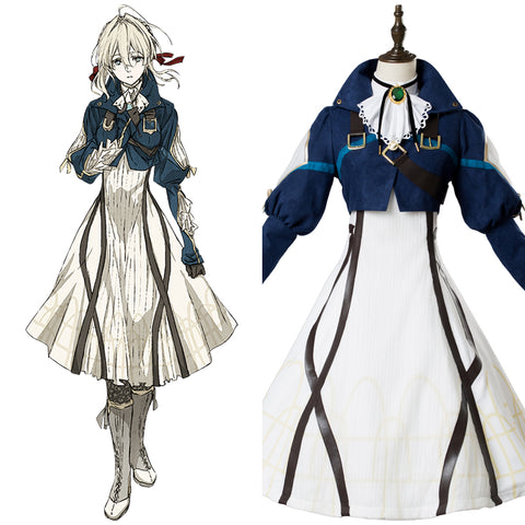 Vaioretto Evagaden Violet Evergarden Violet Dress Cosplay Costume