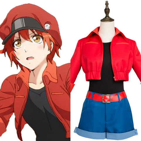 Cells at Work! Erythrocite Red Blood Cell Cosplay Costume