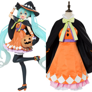VOCALOID Hatsune Miku Halloween Cosplay Costume For Girl Females