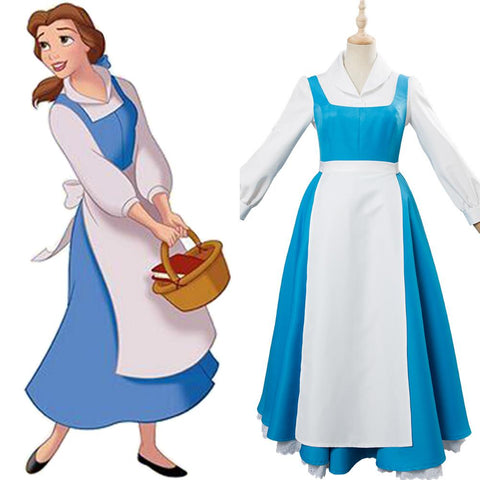 Disney Beauty and the Beast Princess Belle Cosplay Costume