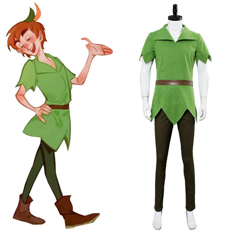 Disney Movie Peter Pan Male Cosplay Costume