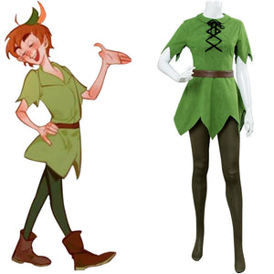 Disney Movie Peter Pan Female Cosplay Costume