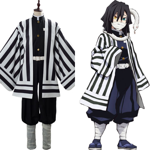Demon Slayer: Kimetsu no Yaiba Iguro Obanai Costume Uniform Cosplay Costume