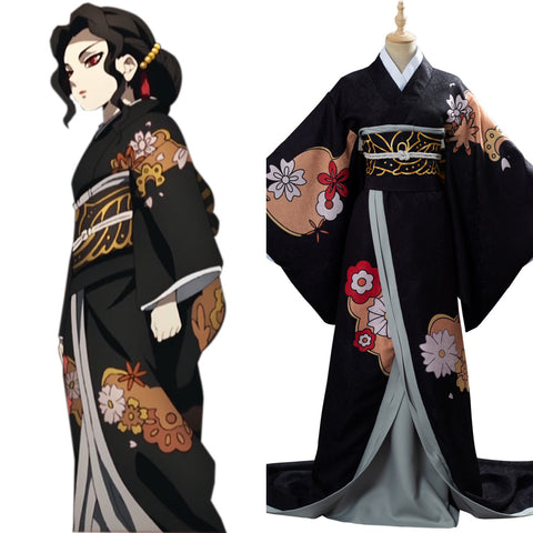 Kibutsuji Muzan Costume Demon Slayer: Kimetsu no Yaiba Female Form Outfit Cosplay Costume