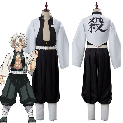 Demon Slayer: Kimetsu no Yaiba Wind Pillar Shinazugawa Sanemi Uniform Cosplay Costume