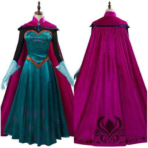 Movie Frozen Elsa Queen Costume Women Dress Outfit Halloween Carnival Costume Cosplay Costume