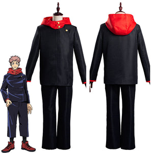 Jujutsu Kaisen-Yuji Itadori School Uniform Outfits Halloween Carnival Suit Cosplay Costume