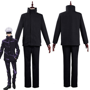 Jujutsu Kaisen-Satoru Gojo School Uniform Outfits Halloween Carnival Suit Cosplay Costume