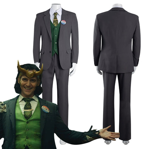 2021 TV Loki Loki Outfits Halloween Carnival Suit Cosplay Costume