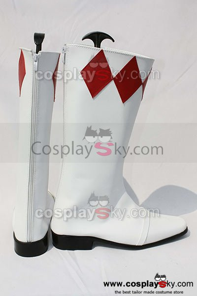 Mighty Morphin Power Rangers Geki Tyranno Ranger Cosplay Boots Shoes