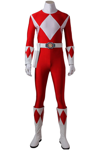 Mighty Morphin Power Rangers Jason Lee Scott Red Ranger Jumpsuit Cosplay Costume
