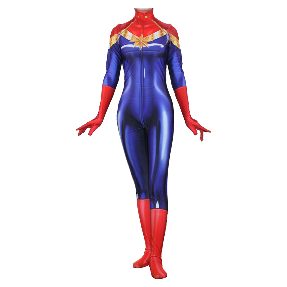Avengers 3 Infinity War Captain Marvel Ms Marvel Jumpsuit Cosplay Cost New Cosplaysky Captain marvel (brie larson) is the superhero identity of carol danvers, a former u.s. cossky