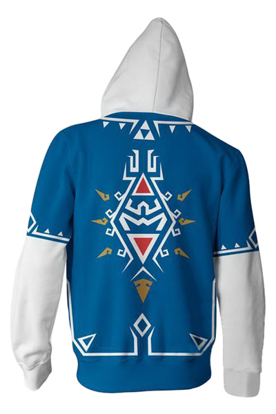 The Legend of Zelda Merchandies Hoodie Link 3D Zip Up Sweatshirt Unisex