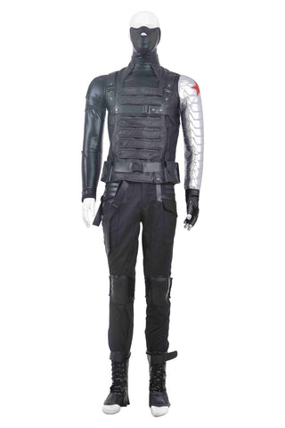 Captain America 2 The Winter Soldier Bucky Barnes Cosplay Costume Outfit