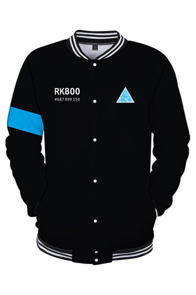 Detroit: Become Human Hoodie Connor RK800 Kara AX400 Baseball Sweatshirt