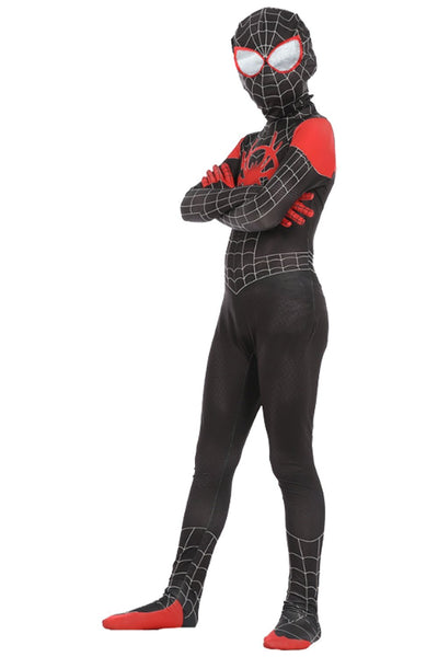 Kids Spiderman Outfit Spider-Man: Into the Spider-Verse Miles Morales Cosplay Costume