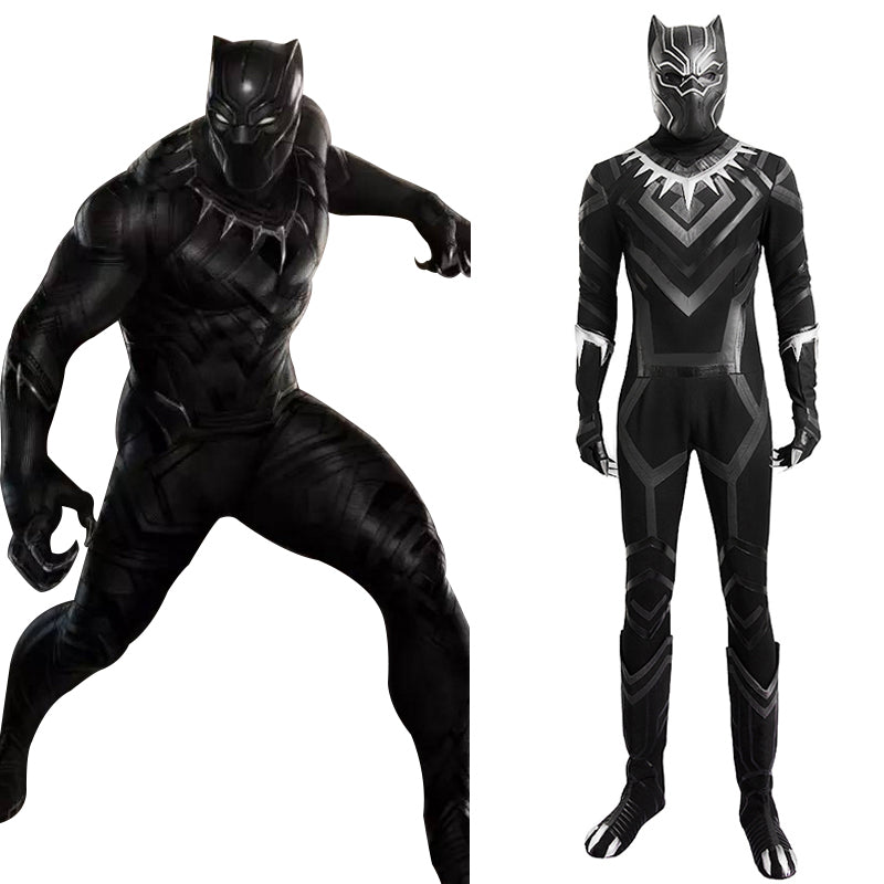 Black Panther T'Challa Outfit Cosplay Costume Captain America 3: Civil War Coplay