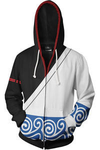 Gintama Merchandies Sakata Gintoki Hoodie 3D Zip Up Sweatshirt Unisex