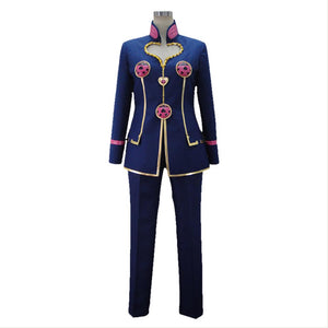 JoJo's Bizarre Adventure: Golden Wind Giorno Giovanna Cosplay Costume Blue