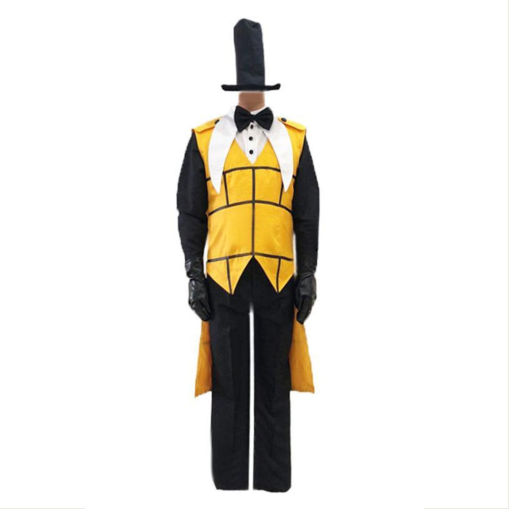 Gravity Falls Cosplay Bill Cipher cosplay costume jacket and hat