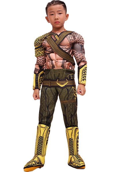 2018 Aquaman Arthur Curry Outfit Cosplay Costume For Kids Children