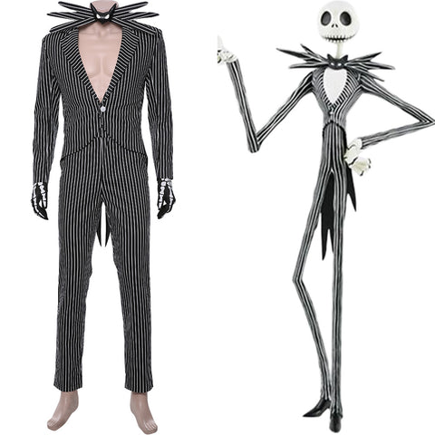 The Nightmare Before Christmas Jack Skellington Suit Cosplay Costume