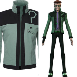 Riddler DC Young Justice Uniform Jacket Cosplay Costume