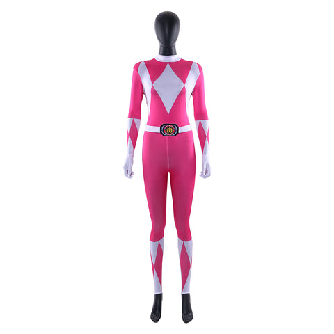 Power Rangers Pink Power Ranger Kimberly Hart Outfit Cosplay Costume