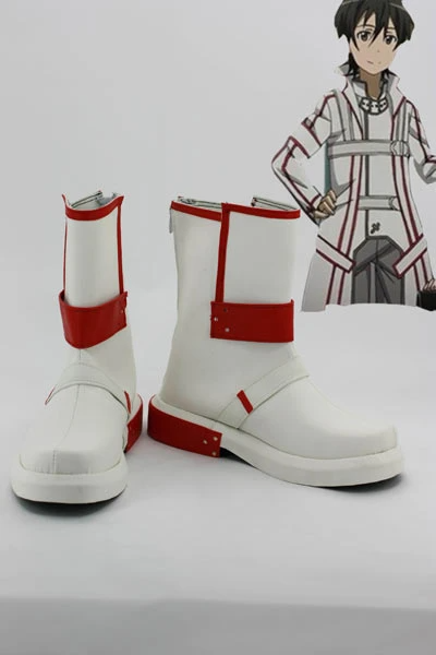 Sword Art Online Kirito Knight of Blood Cosplay Boots Shoes Custom Made