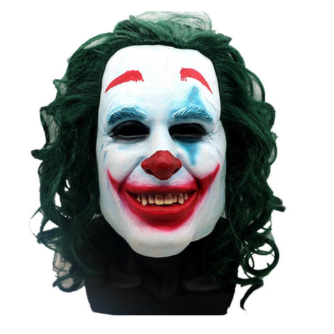 Batman Green Hair Mask Cosplay Clown Full Face Halloween Props