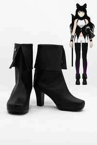 RWBY Black Trailer Blake Belladonna Cosplay Boots Shoes