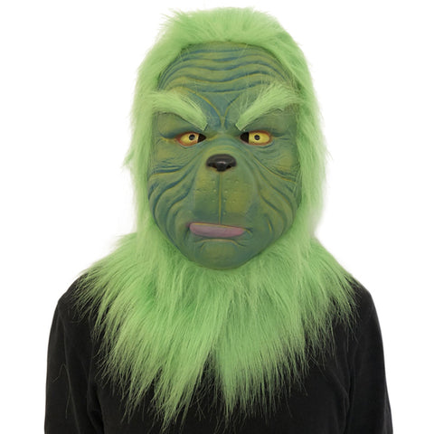 How the Grinch Stole Christmas Grinch Adult Latex Helmet Cosplay Accessories