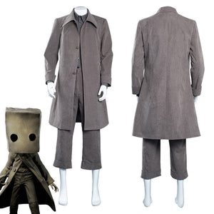Little Nightmares Mono Coat Outfits Halloween Carnival Suit Cosplay Costume