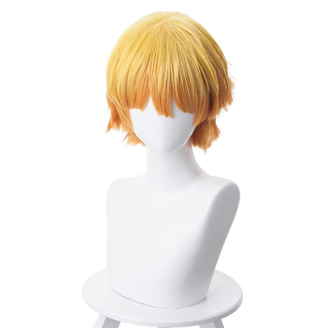 Demon Slayer Agatsuma Zenitsu Outfit Cosplay Wig