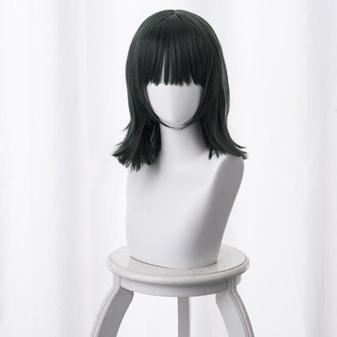 One Punch Man Fubuki Cosplay Wig Dark Green 40CM