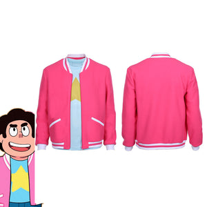 Steven Universe: The Movie-Steven Universe Adult Zip Up Jacket Coat Halloween Carnival Costume Cosplay Costume