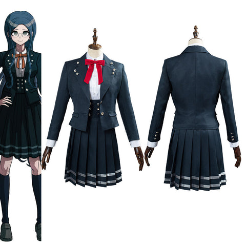 Danganronpa V3 Shirogane Tsumugi School Uniform Skirts Outfit Halloween Carnival Costume Cosplay Costume