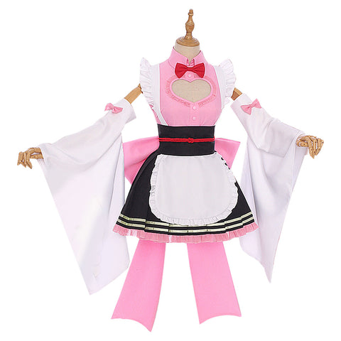 Demon Slayer Kanroji Mitsuri Maid Outfit Cosplay Costume