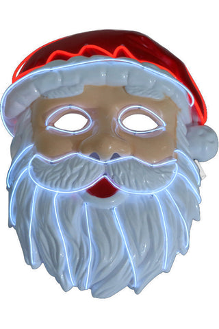 Santa Claus LED Mask Christmas Party Cosplay Props Adult