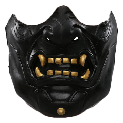 Ghost of Tsushima Latex Face Cover Halloween Cosplay Accessories