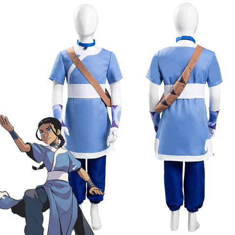 Avatar: the last Airbender Katara Kids Children Halloween Carnival Suit Cosplay Costume